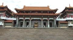 Sun Moon Lake Wenwu Temple in Taiwan Stock Footage