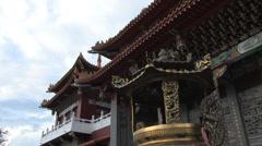 Sun Moon Lake Wenwu Temple Taiwan Stock Footage