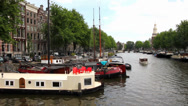 Stock Video Footage of Canal in Amsterdam