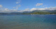 Sandbar, kaneohe bay, kaneohe, oahu, hawaii. Stock Footage
