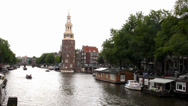 Stock Video Footage of Canal in Amsterdam, The Netherlands