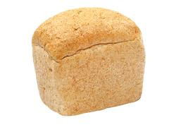 rye and wheat flour white bread coarse grinding and brick shape.isolated. - stock photo