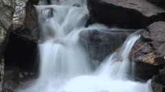 WATER SERIES 11 - HD WATERFALL TIME LAPSE with Sound in COLORADO ROCKIES Stock Footage