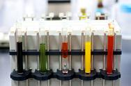 Stock Photo of colorful laboratory test tubes