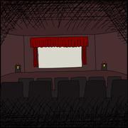 Stock Illustration of empty movie theater