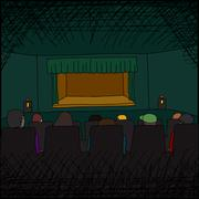 Audience at theater Stock Illustration