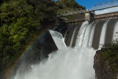 rush of hydro water - stock photo
