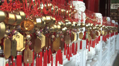 Prayer Plaques at Wen Wu Temple Stock Footage