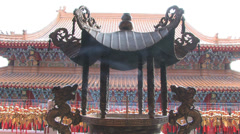 Wen Wu Temple Courtyard at Dusk - stock footage