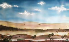 italian landscape - stock illustration