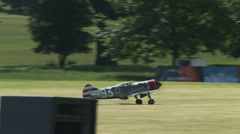 Thunderbolt model plane taking off Stock Footage