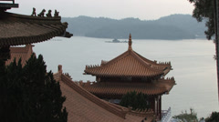 Wen Wu Temple at Sunset Stock Footage