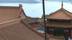 Wen Wu Temple at Dusk Stock Footage