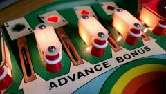 Pinball Machine Action - Bumper hits, flippers, targets - stock footage
