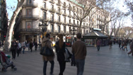 Stock Video Footage of Barcelona -  La Rambla street - HD 1920 X 1080P