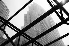 Steel Structural Building in Kuala Lumpur - stock photo