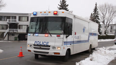 Major crime police vehicle with lights on Stock Footage