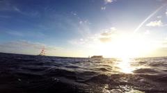 Catamaran cruise in hawaii Stock Footage