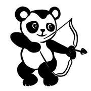 panda archer - stock illustration