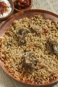 mutton gosht biryani from India - stock photo