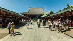 1080 - Senso-ji temple, Tokyo Asakusa Stock Footage