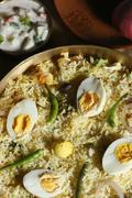 Hyderabadi egg biryani from India Stock Photos