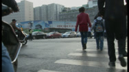 Stock Video Footage of crossing street, Xian China