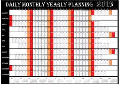 daily monthly yearly planning chart 2015 - stock illustration