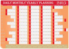 Daily monthly yearly planning chart 2015 Stock Illustration