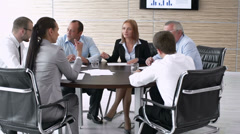 Expert Round Table Stock Footage