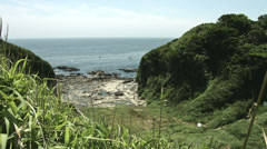 kenzaki light house hill, color graded Full HD (1920x1080) - stock footage