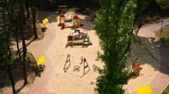 Children's Playground From Above - stock footage