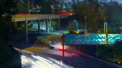 Intersection of 5 and 60 freeways in Los Angeles, California at night. Timelapse Stock Footage