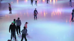 People at the Ice Rink 2 Stock Footage