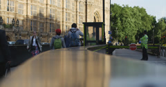 Security gate at Houses of Parliament 4K Stock Footage