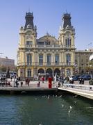 Stock Photo of Spain, Barcelona, Port Vell, Former custom building