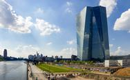 Stock Photo of Germany, Hesse, Frankfurt, view to new building of European Central Bank and