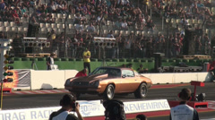 Camaro at Drag Racing motor sports at Hockenheimring Stock Footage