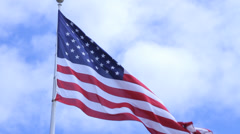 American Flag in Low Wind - stock footage