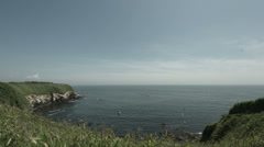 Jogashima view wide angle, non color graded Full HD (1920x1080) Stock Footage