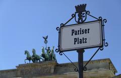 Germany, Berlin, Brandenburger Tor, Pariser Platz Stock Photos