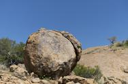 Stock Photo of Africa, Namibia, Erongo mountains, spheroidal weathering of granite