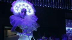 Peejay Woman in Carnival Mask Stock Footage