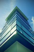 Stock Photo of Germany, Lower Saxony, Hannover, Glass facade of a house