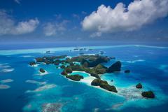 Micronesia, Palau, archipelago Rock Islands Stock Photos