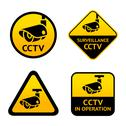 Stock Illustration of Video surveillance, set signs