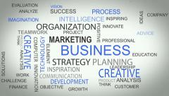 Business_strategy online develop solutions word tag cloud animation - stock footage