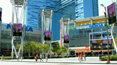 Nokia Center in Los Angeles, California - BlackMagic 4K Production Camera Stock Footage