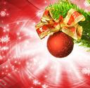 Stock Illustration of christmas decoration over abstract background