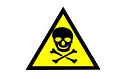 Stock Illustration of beware toxic